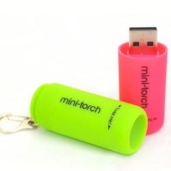 迷你PVC手電筒USB
