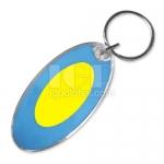 Oval Solar Keychain
