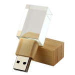 Wooden Crystal Glow USB Flash Drive