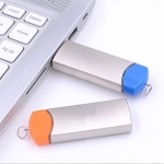 旋轉伸縮金屬USB