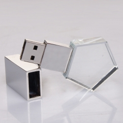 五角星水晶USB