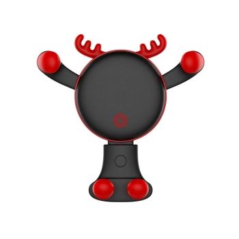 聖誕老人小鹿創意手機支架