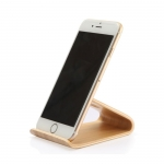 Bent wood phone holder