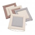 Lace up non-slip cotton linen cushion
