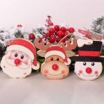 聖誕木質帶燈掛飾
