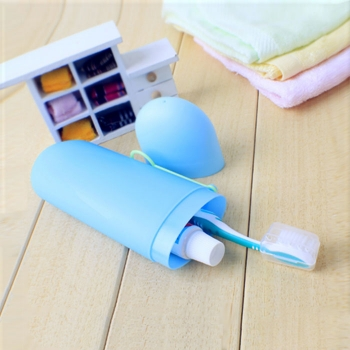 Outdoor tooth brush case travel set
