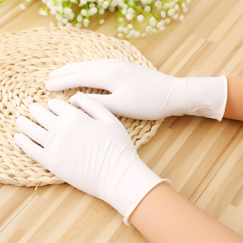 Butyronitrile disposable protective gloves