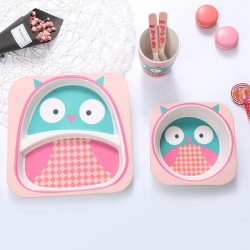 Bamboo Fiber Children Tableware
