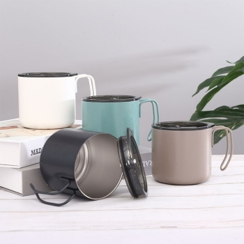 Stainless steel vacuum cup with lid