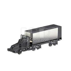 貨車模型水晶擺件