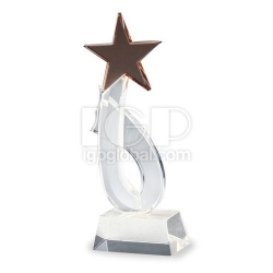 五角星星水晶獎座