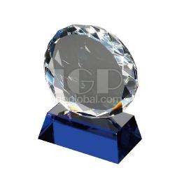 太陽花圓形水晶獎座
