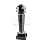 Earth Microphone Crystal Trophy