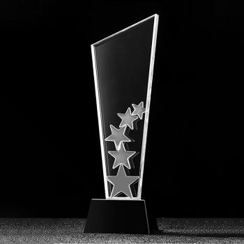 水晶創意五角星經典獎座