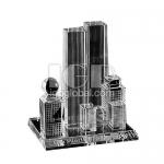 城市高樓水晶擺設