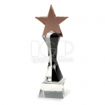 Wreathed Column Star Crystal Trophy