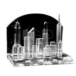 城市樓群水晶擺件