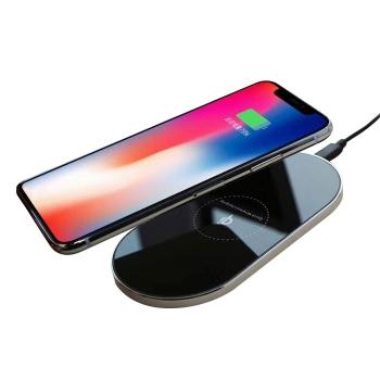 橢圓形鋁合金無線充電器