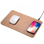 Wooden pattern wireless charger mouse pad