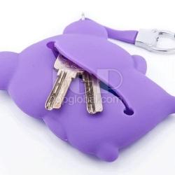 卡通矽膠鑰匙包