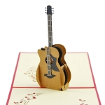 Paper Sculpture Guitar Greeting Card