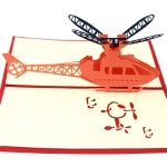 Paper Sculpture Helicopter Greeting Card