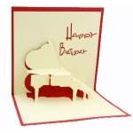 3D Piano Greeting Card