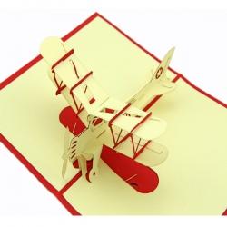 復古飛機賀卡