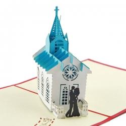 婚禮教堂賀卡