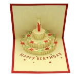 3D Cake Greeting Card
