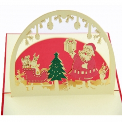 創意聖誕折疊賀卡