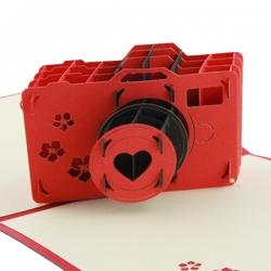 創意相機折疊賀卡