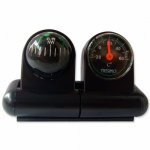 Car Compass Ball + Thermometer