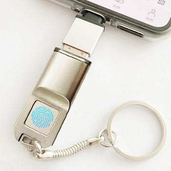 電腦手機兩用指紋加密USB