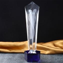 內雕煙紋水晶獎杯