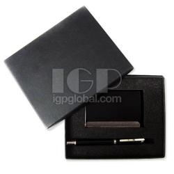 名片盒+寶珠筆商務套裝