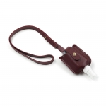 Leather sheath for hand sanitizer