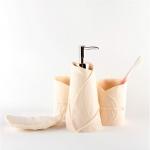 樹葉形樹脂洗漱套裝