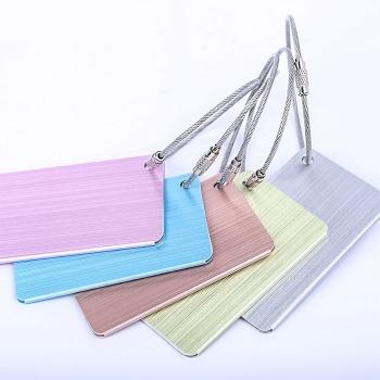 拉絲鋁合金行李牌