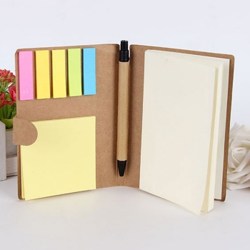 Recycle Memo Pad with Pen Set Notebook