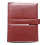 PU Button Loose-leaf Business Notebook