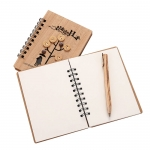 Creative wooden notebook