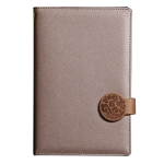 Leather Round Button Notebook