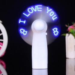 Mini Portable LED Flashing Fan