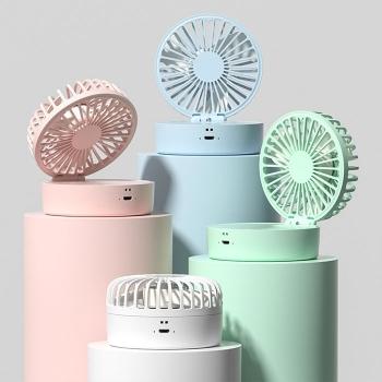 Foldable fan with sprayer