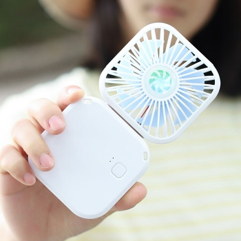 Foldable fan with power bank