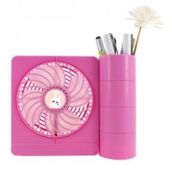 LED LOGO Customizable Pen Holder Fan