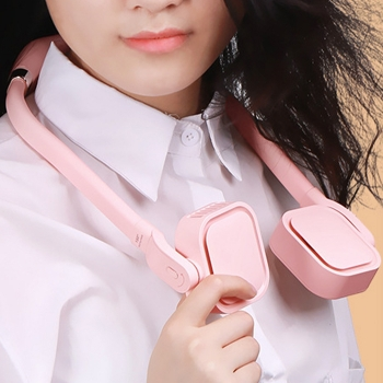 Hang-neck type bladeless fan-square