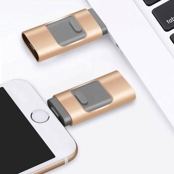 4合1 OTG金屬手機USB
