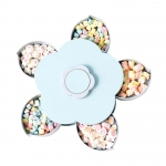 Flower-shape rotary switch candy box